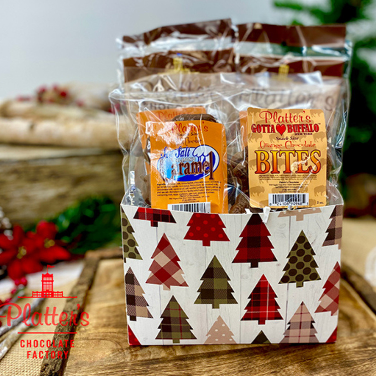 Small Snack Size Holiday Basket